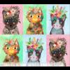 Mia Charro -   More Floral Kitties Multi / 129.101.08.1