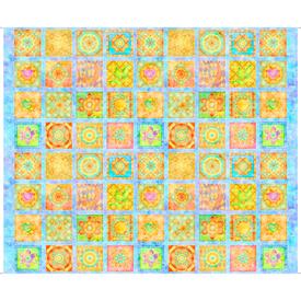 QT - Dream Big Flower Patches / Blue / 27573 -B