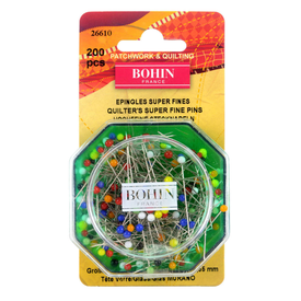 Bohin -200 Super Fine Glass Pins