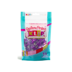 Quilters Perfect Clips - 50 Clips Purple