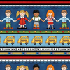 SE - School Zone / Border Stripe / 4132-77