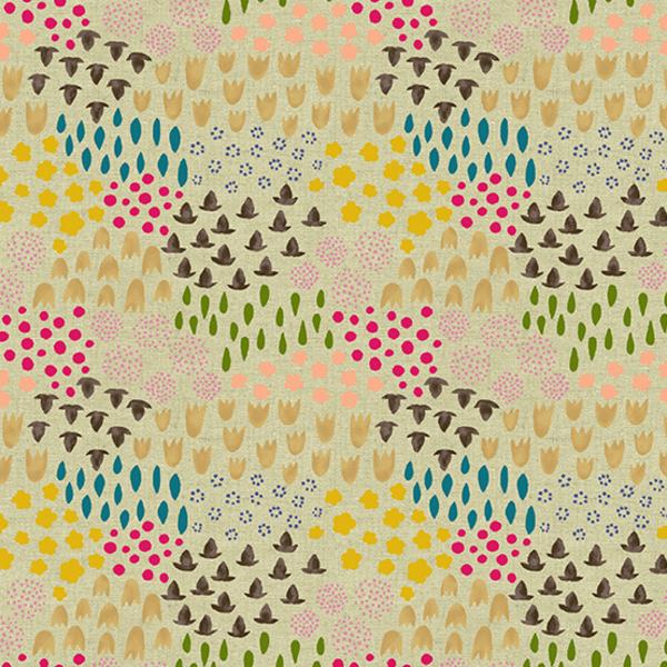 Linen / Sarah Golden / Tiger Plant / Flowers / ALN-8644-N