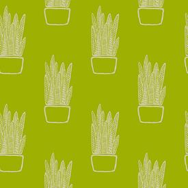 Linen / Sarah Golden / Tiger Plant / Cactus / ALN-8647-G