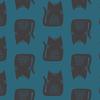 Linen / Sarah Golden / Maker / Teal Cats / ALN-8454-B