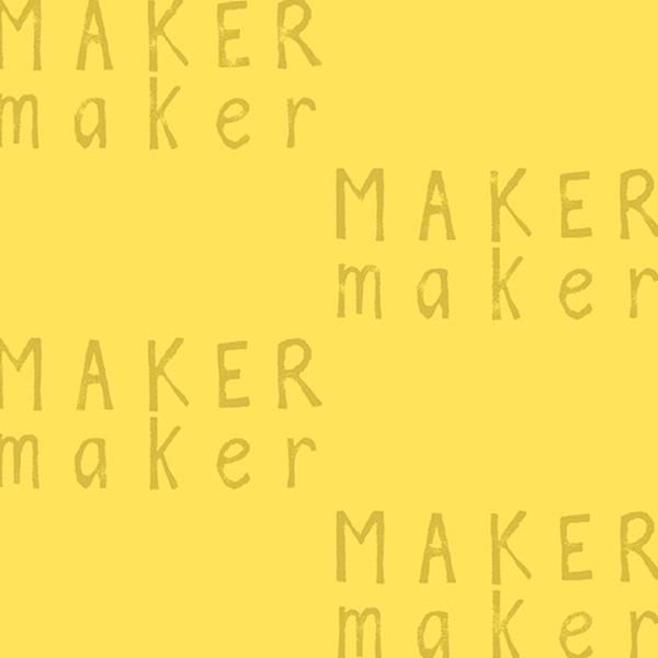 Linen / Sarah Golden / Maker / Yellow Words / ALN-8453-Y