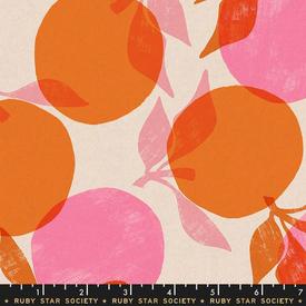 Canvas-Linen / Ruby Star / Peaches / Orange /  RS 5022 14L copy