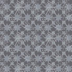 Alison Glass - Seventy Six / 76 / Flourish / Gray / 8446-K