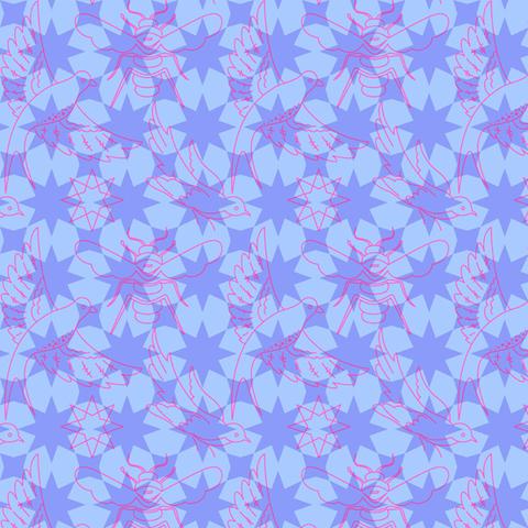 Alison Glass - Seventy Six / 76 / Flourish / Purple / 8446-P