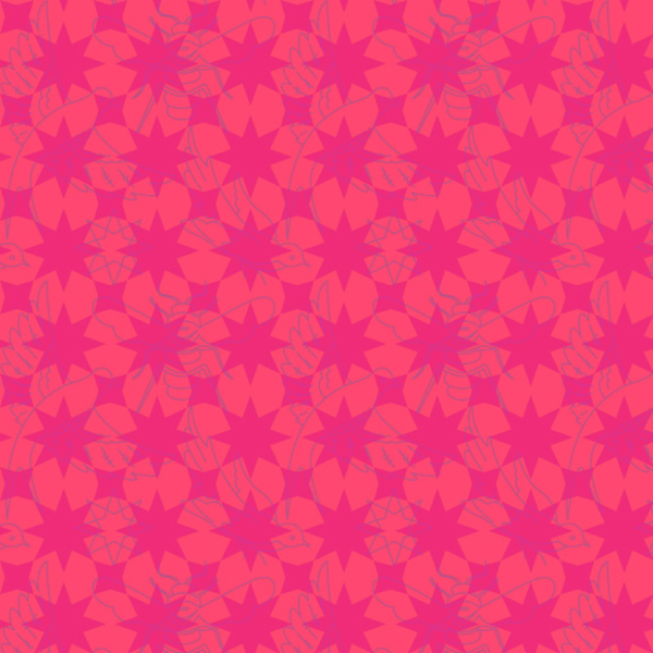 Alison Glass - Seventy Six / 76 / Flourish / Red / 8446-R