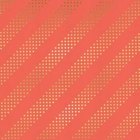 C&S - Dotties / Orange with Metallic