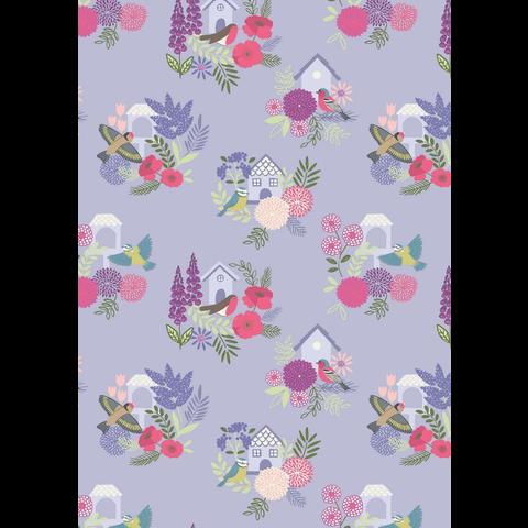 Lewis & Irene - Grandma's Garden / Garden / Bird House / Purple / A198.3