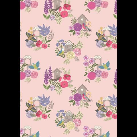 Lewis & Irene - Grandma's Garden / Garden / Bird House / Pink / A198.2