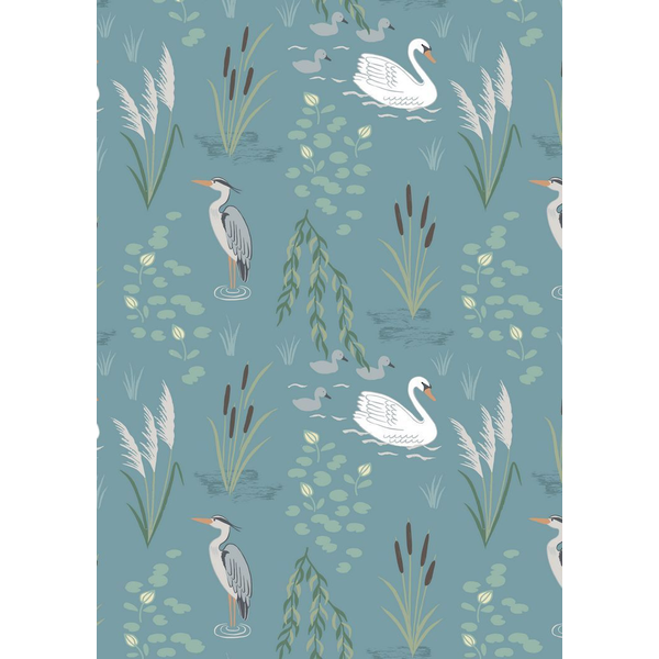 Lewis & Irene - Down By The River / Swan And Heron / Teal / A220.2