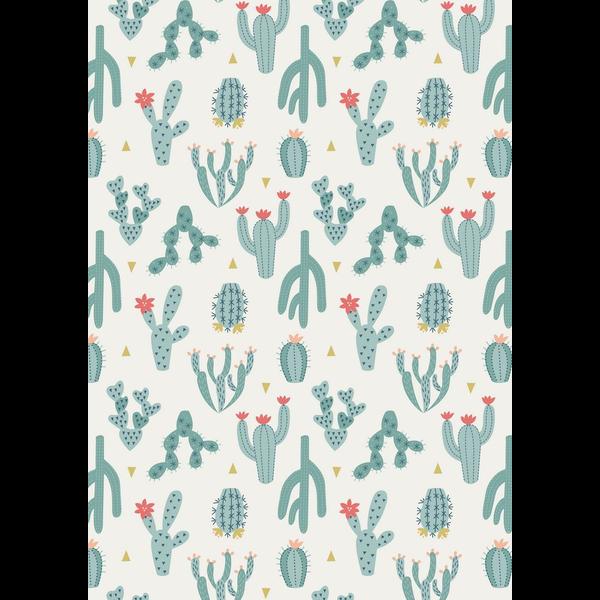 Lewis & Irene - Paracas / Blue Cactus / White / A202.1
