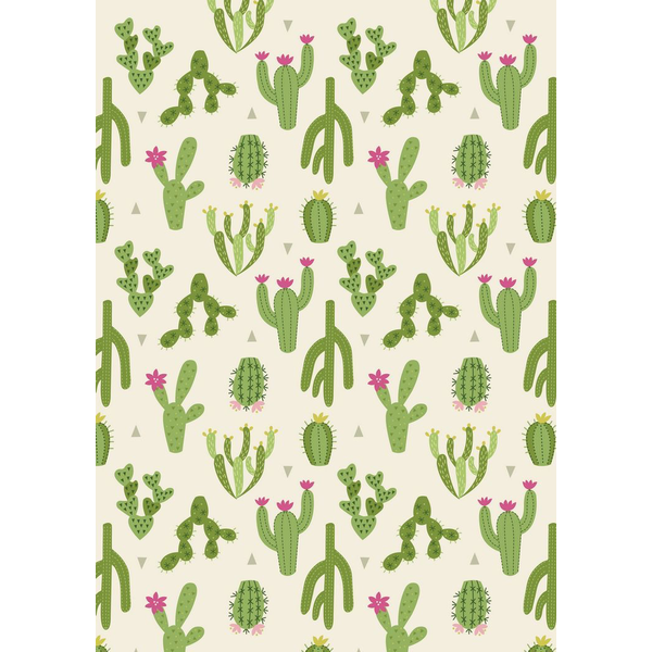 Lewis & Irene - Paracas / Green Cactus / Cream / A202.2