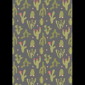 Lewis & Irene - Paracas / Green Cactus / Dark Grey / A202.3