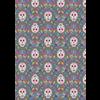 Lewis & Irene - Paracas / Sugar Skulls / Grey / A204.3