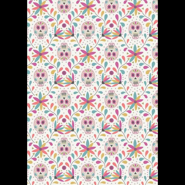 Lewis & Irene - Paracas / Sugar Skulls / White / A204.1