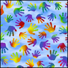 QT - Rainbow Hands / Blue