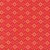 EH / Rhoda Ruth - Geometric Squares / Bright Red & Orange