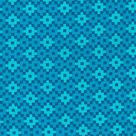EH / Rhoda Ruth - Geometric Squares / Blue