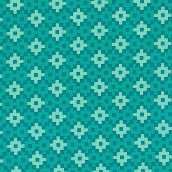 EH / Rhoda Ruth - Geometric Squares / Teal