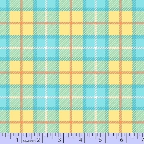 Marcus - Flanel - Primo Plaids / U055-0133 / Yellow & Blue