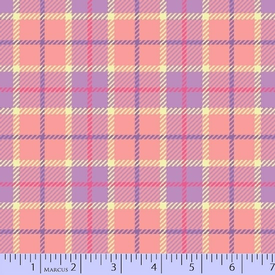 Marcus - Flanel - Primo Plaids / U055-0172 / Purple & Peach