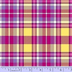 Marcus - Flanel - Primo Plaids / u013_0133 / Purple, Pink & Yellow