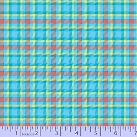 Marcus - Flanel - Primo Plaids / U011_0150 / Blue & Orange