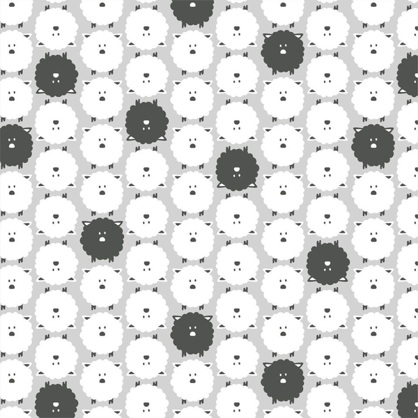 Cloud9 - ORGANIC Flannel / Little Sheep / Grey