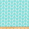 Cloud9 - ORGANIC Flannel / Little Owls / Teal / Hexi