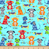 Windham - Flanel - Cubby Bear / Puppy Love / Turquoise