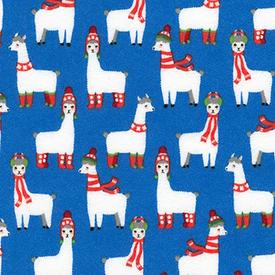 RK - Flannel - Bundle Buddies / Llamas / Blue