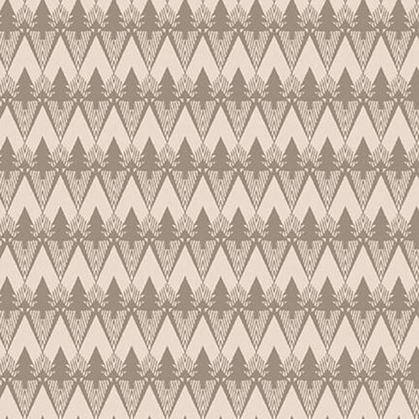 Henry Glass - Flannel / Folk Art / Mountains / Cream / F2378-33