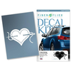 Decal - I heart sewing (White)