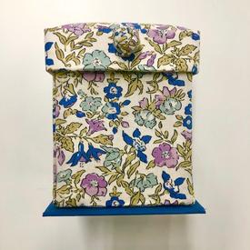 Folding Sewing Box / Kit & Supplies (Liberty Of London / Lilac)