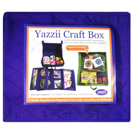 Yazzii - PURPLE / Large Craft Organizer (4 Inserts)