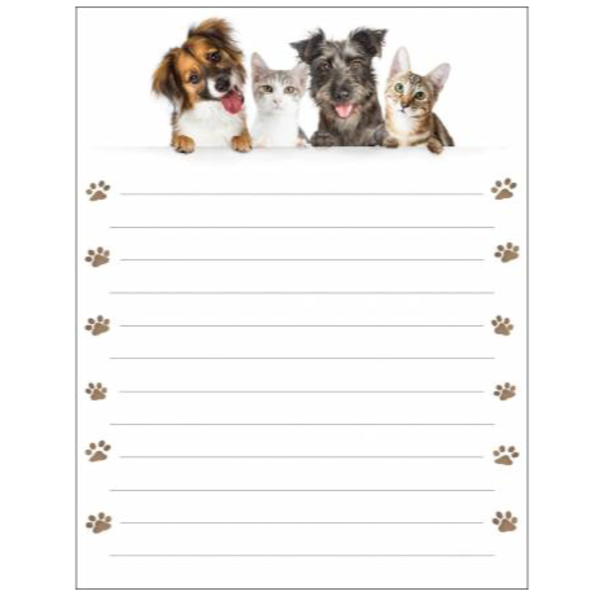 Memo Pad - Cats/Dogs - It Takes Two
