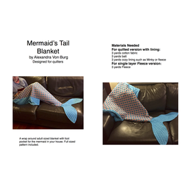 Alexandra Von Burg  - Pattern / Mermaid's Tail Blanket