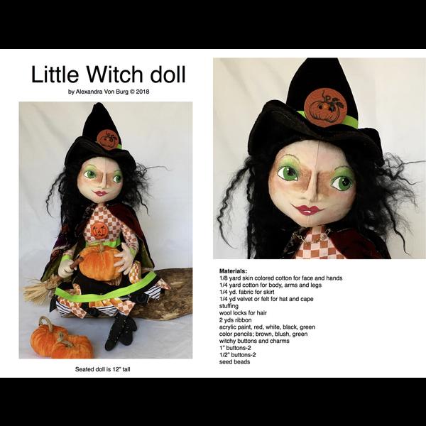 Alexandra Von Burg  - Pattern / Little Witch Doll