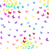 Andover - Rainbow Sprinkles / Butterfly / White / A-9425-L