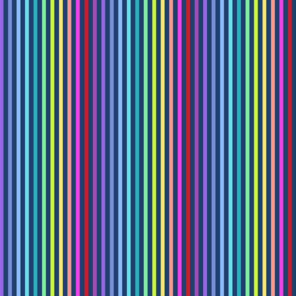 Andover - Rainbow Sprinkles / Stripe / Navy / A-9427-B