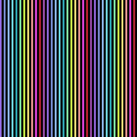 Andover - Rainbow Sprinkles / Stripe / Black / A-9427-K