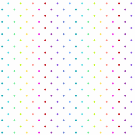 Andover - Rainbow Sprinkles / Swiss Dot / White /  A-9428-L
