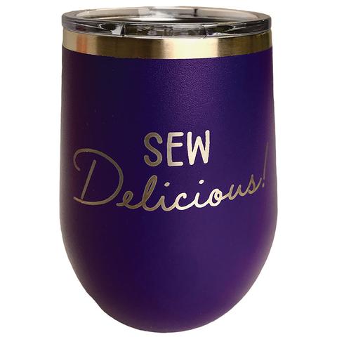 Insulated Tumbler - 12oz - Sew Delicious - Purple
