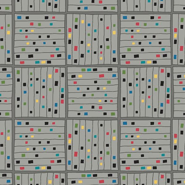Contempo - Printology / Gridwork / Grey / 7535-08