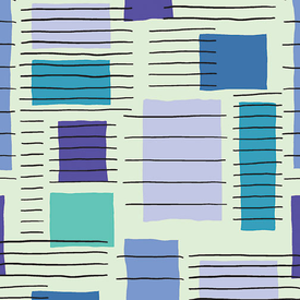 Contempo - Printology / Blocks / Blue / 07530-40