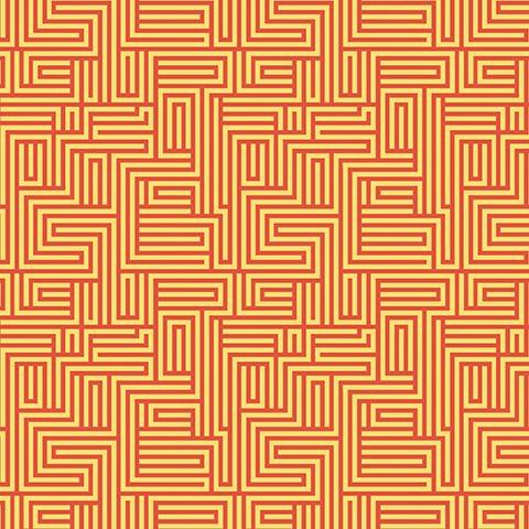 Contempo - Dot Crazy / Maze / Orange / 6004-22