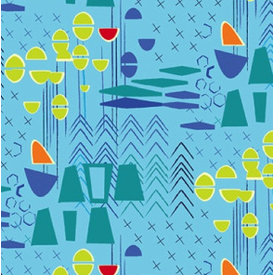 Contempo - Modern Marks / Blue / 04660-54